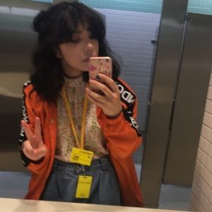 new york/tokyo orange lightweight jacket🖤🧡